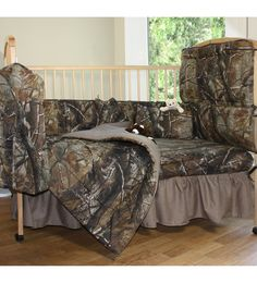 Realtree Ap Camo Crib Bedding Set - Raise 'em In The Woods!