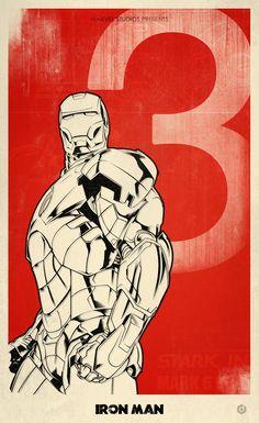 Iron Man 3 alternative movie poster by Doaly (via Creattica)
