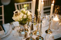 white-flower-centerpieces-silver-china