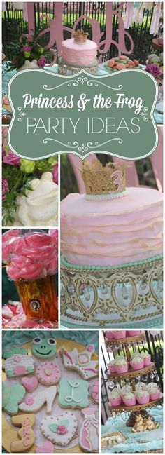 Love this Princess & the Frog party with New Orleans cuisine! See more party ideas at CatchMyParty.com!