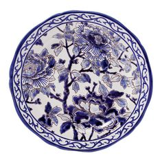 Gien France Piviones Bleu Dinner Plate Home - Dining & Entertaining - Dinnerware - Bloomingdale's Gien France, Japanese China, Blue Peonies, Prestige, Square Plates, Pip Studio, Japanese Porcelain, Blue Plates, Painting Process