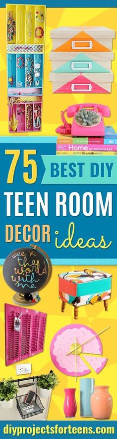 Best DIY Room Decor Ideas for Teens and Teenagers - Best Cool Crafts, Bedroom Accessories, Lighting, Wall Art, Creative Arts and Crafts Projects, Rugs, Pillows, Curtains, Lamps and Lights - Easy and Cheap Do It Yourself Ideas for Teen Bedrooms and Play Rooms http://diyprojectsforteens.com/diy-room-decor-ideas-teens https://www.djpeter.co.za https://www.djpeter.co.za