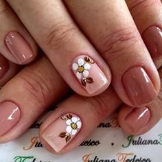 Fall Nail Art Designs, Acrylic Nail Designs, Acrylic Nails, Manicure E Pedicure, Cute Nails, Polish, Floral, Beauty, Psg
