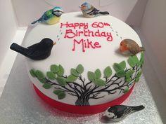 Garden birds birthday cake Birthday Cakes For Men, Happy 60th Birthday, Man Birthday, Celebration Cakes, Birthday Celebration, Bird Cakes, Afternoon Tea Parties, Tea Party, Garden Birds