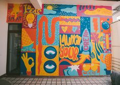 Mural illustrated for a Media Hub in Cluj-Napoca. Murals, Studio, Illustration, Painting, Design, Art, Art Background, Wall Murals, Wall Paintings