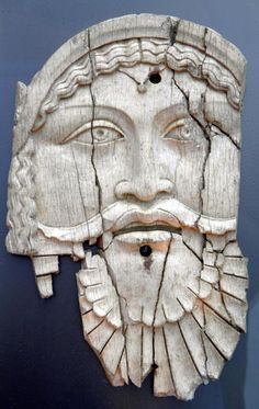 Ivory plaque depicting Dionysos,  decorated either a chest of a bed, from Saepinum (Sepino, Italy), 1st century BC - 1st century CE, Thessaloniki Archaeological Museum , Hellas