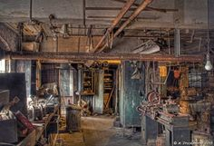 Basement Machine Shop at the Lonaconing Silk Mill | Flickr - Photo Sharing!