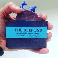 Isn't this the most beautiful coloring ?!?! Perfect for the name Deep End. This gorgeous soap was made using out Dirty (Lush Type) fragrance oil by our friend at: https://www.etsy.com/shop/cherrytreelanesoap?ref=hdr_shop_menu