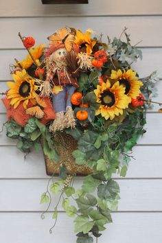 "Gardening Tips for Small Spaces: Tiny ""Pumpkins"" for Harvest Time Door or Wall deco..."