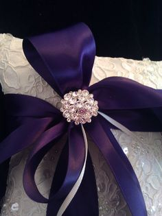 Embellished Alencon Lace Ring bearer Pillow with by simplybridal1, $65.00