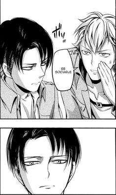 Anime/manga: SNK No Regrets Characters: Levi and Farlan, Levi is me and my parents are Farlan.