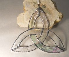 Clear Trinity Knot by artophile on Etsy, $20.00