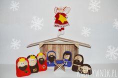 Felt christmas crib for kids
