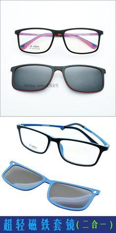 f326fc8c098 Free Shiping Ultra-light Glasses Frame With Magnet Polarized Clip  Sunglasses Ultem Glasses Sunglasses Functional