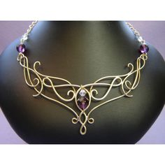 Bridal Headpieces : Fantasy, Elven, Celtic, Medieval and Renaissance... via Polyvore featuring jewelry, necklaces, fantasy, crown and lord of the rings