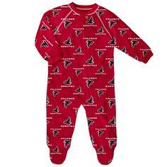 6436df842 Atlanta Falcons Newborn-Infant Blanket Zip-Up Sleeper 3-6M