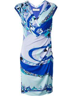 EMILIO PUCCI Patterned Wrap Dress