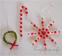 Make evergreen wreaths, candy canes, and starbursts with this Wreath and Candy Cane Beaded Christmas Ornaments tutorial. Even though adults will enjoy it just as much, these beaded beauties are exceptional Christmas ornament crafts for kids. Christmas Crafts For Kids, Christmas Activities, Christmas Projects, Holiday Crafts, Christmas Holidays, Christmas Decorations, Christmas Ideas, Christmas Crafs, Homemade Christmas