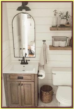 16 Rustic Bathroom Ideas - Rustic News Decorating rustic bathroom you just have to think about bigger size wooden elements, such as decorative beams, reclaimed wood or restored furniture like old mirror frame, door casing, etc. Rustic Bathroom Designs, Rustic Bathroom Decor, Bathroom Styling, Bathroom Interior, Bathroom Furniture, Neutral Bathroom, White Bathroom, Bathroom Small, Condo Bathroom