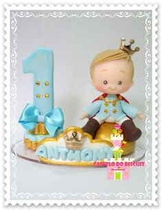 Mini topo de bolo Realeza https://www.elo7.com.br/castelodobiscuit/loja