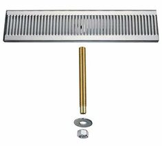 "Kegco 20"" Beer Drip Tray Stainless Steel Surface Mount with Drain . $89.98. Save 40%!"
