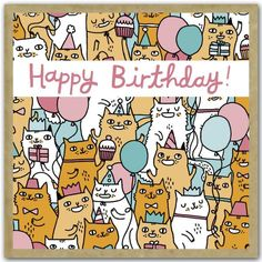Gemma Correll - Birthday Cats by teNeues.com