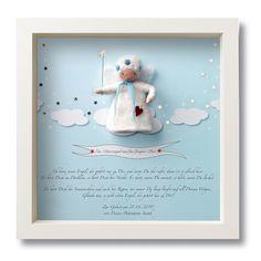 Geschenk zur Geburt Schutzengel mit Namen von mein liebstes auf DaWanda.com