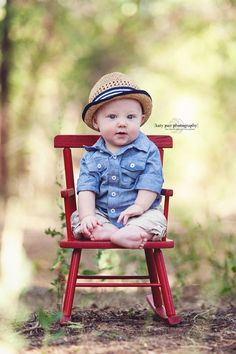 And, I have a couple cute chairs too try out:) Props to Katy Pair Photography Baby Photography 6 Month Pictures, Baby Boy Pictures, 6 Month Baby Picture Ideas Boy, Baby Boy Pics, Six Month Photos, Children Pictures, Baby Baby, Baby Kids, First Birthday Photos