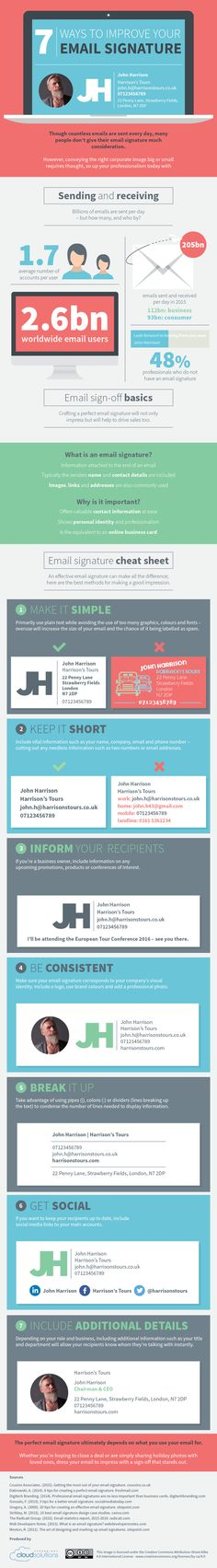 How to Create the Perfect Email Signature [Infographic] - https://technnerd.com/how-to-create-the-perfect-email-signature-infographic/?utm_source=PN&utm_medium=Tech+Nerd+Pinterest&utm_campaign=Social
