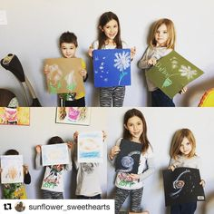 ) #YouAreALLartists #yourmorningbasket #Repost @sunflower_sweethearts with @repostapp  ・・・  Thanks @hspambarnhill and @hodgepodgemom for the great webinar. Here are our finished artworks! #youareanartist #sunflowersweethearts #365homeschool #hiphomeschoolm...