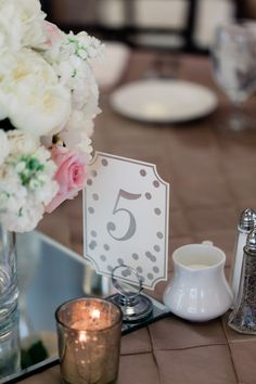 Wedding table number - Dan and Melissa - Belle The Magazine