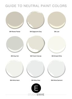 Guide to Neutral Paint Colors In a world where our homes and styles are constantly evolving, neutral paint colors are often the answer to flexible color options. The problem is that there are hundreds of neutral paint colors, so which on Indoor Paint Colors, Cream Paint Colors, Neutral Paint Colors, Paint Color Schemes, Best Paint Colors, Paint Colors For Home, Grey Paint, Interior Paint Colors For Living Room, Best Interior Paint