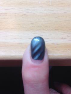Gemaakt met magnetic nagellak
