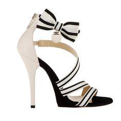 Sandalo in gros-grain con - Scarpe - Elisabetta Franchi - Style.it