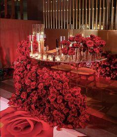 Red Wedding Decorations, Reception Decorations, Wedding Themes, Event Decor, Wedding Designs, Wedding Colors, Wedding Events, Red Wedding Receptions, Red Wedding Centerpieces