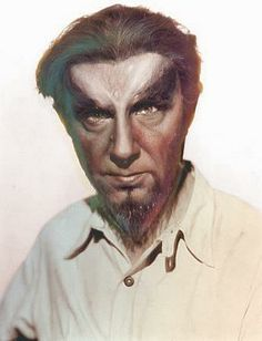 "Bela Lugosi in one of the remarkable ""manimal"" make-ups designed by Charles Gemora and Wally Westmore from Island of Lost Souls (1932)."