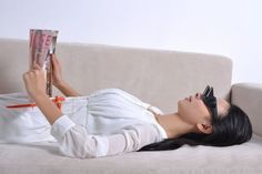 A pair of prismatic glasses so you can fully lie down while reading or watching TV without craning your neck.