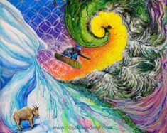 Paintings to bring awareness to the Unified Field, to help us remember that we are connected to one another, our environment and the Divine #snowboarding #sacredart #visionaryart #trippyart #homedecor #mountainart #coloradoart Wall Art Prints, Poster Prints, Weed Art, Mountain Art, Feminist Art, Visionary Art, Sacred Art, Moon Art