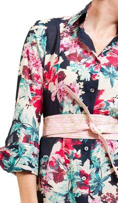 Bell Spring 2013 floral shirt dress