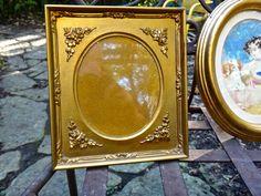 Gold Frame, Oval Frame, Italy, Italian Frame, Gold Floral Frame, Photo Frame, Wedding, Shabby, Cottage, Rustic, Frame, Oval Matt Frame by CasaKarmaDecor on Etsy