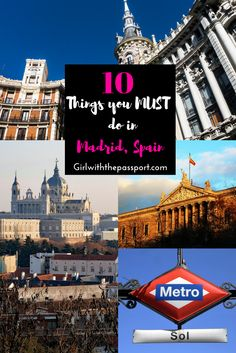 Madrid, Spain is a vibrant capital with these amazing 10 Madrid experiences and Madrid icons that need to be on your Madrid bucket list right now. Seriously, check out this #madrid bucket list that is filled with all the madrid sites and madrid attractions that you must see. This post gives you madrid travel tips and will help you plan your madrid itinerary while you're in #spain.