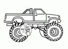 bigfoot monster car coloring page for kids transportation coloring pages printables free wuppsy