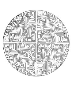 Free coloring page free-mandala-to-color-maze.