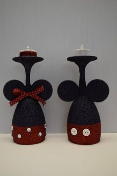 minnie mouse candles this listing is for a pair of handmade mickey mouse wine glass tealight candle minnie mouse candle australia Wine Glass Crafts, Wine Craft, Wine Bottle Crafts, Wine Bottles, Minnie Mouse Gifts, Mickey Mouse Christmas, Wine Glass Candle Holder, Candle Holders, Bow Holders