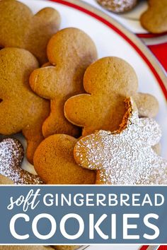 Make the best gingerbread cookie with this recipe that makes a soft and chewy gingerbread man. Top with powdered sugar or your favorite icing. This easy gingerbread cookie recipe is simply the BEST! The Best Gingerbread Cookies Easy Gingerbread Cookie Recipe, Chewy Gingerbread Cookies, Holiday Cookies, Gingerbread Man Recipe Without Molasses, Gingerbread Houses, Gingerbread Icing, Gingerbread Recipes, Holiday Baking, Christmas Baking