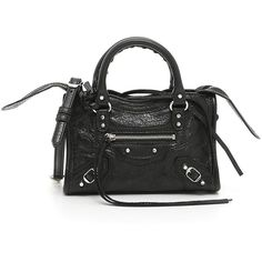 Classic Nano City Bag (€693) ❤ liked on Polyvore featuring bags, handbags, zipper handbag, zipper bag, city bag, lambskin purse and zip purse