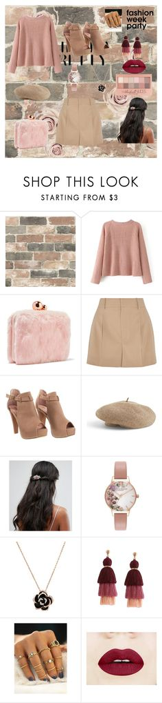"""elegance&fur"" by tekiii ❤ liked on Polyvore featuring Wall Pops!, Sophia Webster, Chloé, Venus, Liars & Lovers, Olivia Burton and Maybelline"