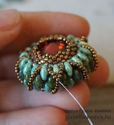 """Snake Eyes"" Ring Master Class ~ Seed Bead Tutorials"