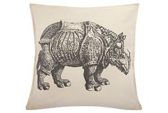 One Kings Lane - Uncommon Finds - Rhino 18x18 Pillow, Charcoal