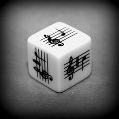 Musical Notes Dice - A Pentatonic Scale